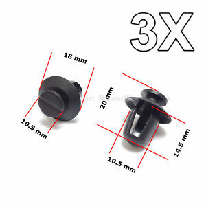 3x Door Trim Panel Retainer Exterior Door Moulding Trim For Citroen Peugeot