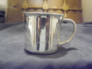 Vintage1993 Monogrammed Stephen Wallace Sterling Silver 4 Ounce Baby Cup