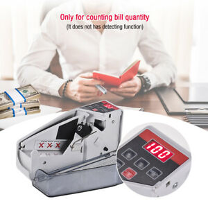 Portable Handy Money Counter Worldwide Bill Cash Banknote Note Currency Counting