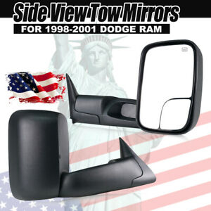 Left Right 1998 2001 For Dodge Ram 1500 2500 3500 Power Heated Towing Mirrors