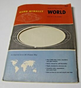Rand Mcnally 34 X 52 In Cosmopolitan World Map On Mercator Projection 1960 S
