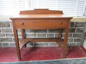 Authentic Early 20th Century Arts Crafts Era Oak Wood Sideboard Table