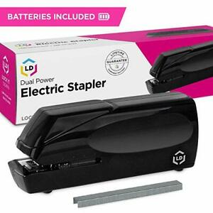 Cordless Automatic Electric Stapler staples Batteries Wall Power Supply Incl