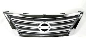 For 2013 2015 Nissan Sentra Front Upper Hood Oe Factory Style Grill Grille