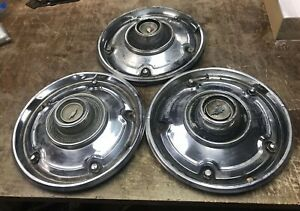 Lot Of 3 Vintage Chevy 15 Inch Hubcaps