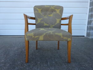 Vintage Mid Century Modern Eames Era 1950s Fabric Arm Chair Heywood Wakefield