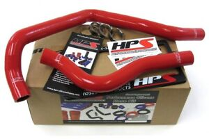Hps Red Reinforced Silicone Radiator Hose Kit Coolant For Acura 97 01 Integra