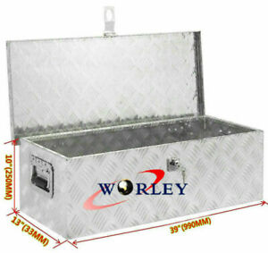 39 x13 x10 Aluminum Pickup Truck Trunk Tool Box Trailer Under Body Bed Storage