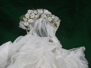 Gorgeous Antique Wax Orange Blossom Flower Wedding Headress Tiara