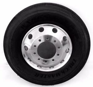 11r 16pr Steer Guide Truck Tires 22 5 X 8 25 Forged Aluminum Wheel Rims 2x
