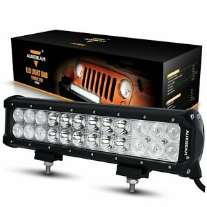 Led Light Bar Auxbeam 12 Inch 72w Cree Off Road 7200lm Combo Beams Waterproof