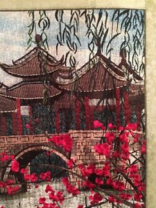 Amazing Vintage 20 X30 100 Silk Beautifully Handmade Chinese Su Embroidery