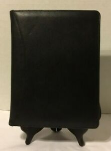 Classic Edition Day Runner Black Leather Planner Zip 3 Rings Plus Inserts Vtg