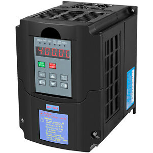 5hp 4kw 220vac Vfd Variable Frequency Single Phase Drive Control 3 Phase Spwm