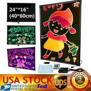 24 16 Led Dry Erase Menu Board Message Lighted Sign Fluorescent Neon Writing