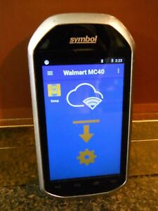 Motorola symbol Mc40n0 Wal mart Software Android Barcode Scanner for Parts Only