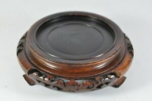 1 Estate Fine 3 6 China Chinese Carved Wood Stand Scholar Art