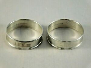 Lot Of 2 Antique Gorham Sterling Silver Napkin Rings 6290