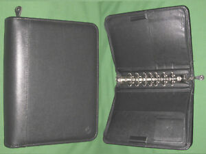 Classic 1 5 Black Top Grain Cowhide Leather Franklin Covey Planner Binder 750