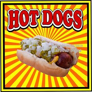Hot Dogs Decal choose Your Size S Concession Food Truck Vinyl Sign Sticker