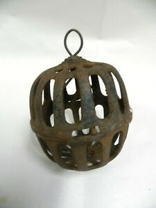 Antique Vtg Hanging Cast Iron General Country Store String Twine Holder A13