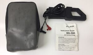 Fluke 80i 400 Ac Current Clamp Probe W Case And Manual