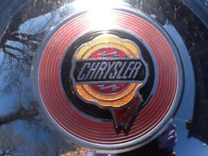 All 4 Beautiful Vintage Chrysler oem Hub Caps dog Dish Style free Shipping