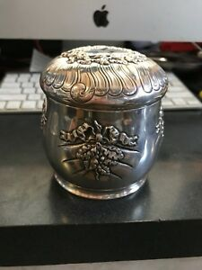 Tiffany Tea Caddy Antique Aesthetic Box American Sterling 222 7 Grams