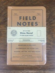 Field Notes Dime Novel fall 2017 Sealed 2 pack