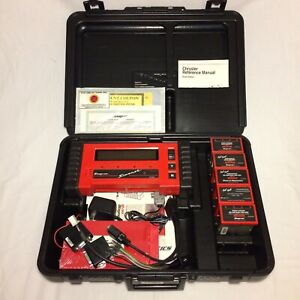 Snap on Mt2500 Scanner Case Cartridges Cables Manuals as is
