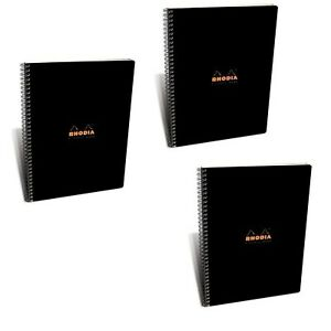 Rhodia 4 Color Wire Bound Book In Black 22 5x29 7 Cm 80 G Pack Of 3