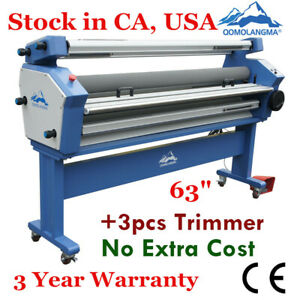 Usa 110v 63 Full auto Low Temp Wide Format Cold Laminator With Heat Assisted