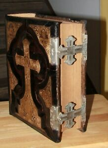 Antique C1885 Catholic Family Bible Douay Rheims Clasp Completely Restored Big