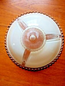 Vintage Ceiling Light Shade Fixture Cover Bubble Glass Edge