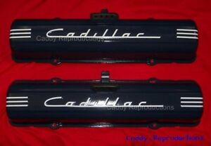 1949 1957 Cadillac Valve Cover Decal Pair Set 49 57 White