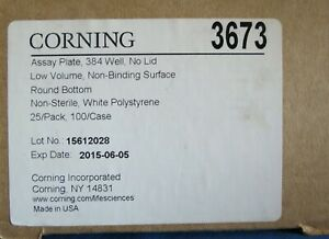 Pk 25 Corning 384 well Low volume White Microplates 50ul 3673
