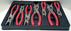 Snap On 7 Piece Snap ring Pliers Set Part Srpc107 Red Handle Set