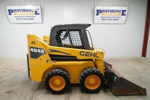 Gehl 4640e Wheel Skid Steer Loader Tipping Load Of 3000 Lbs