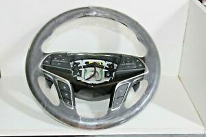 Oem 2016 19 Cadillac Ct6 Leather Steering Wheel W Shift Paddles Black 23329015