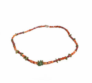 Pre Columbian Beads Necklace Moche Turquoise Spondylus Antique Free Shipping