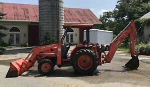 2006 Kubota L48 4x4 Compact Tractor Loader Backhoe 48hp Diesel Hydro 1166hrs
