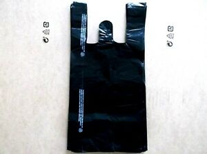 1400 Ct Plastic Shopping Bags T Shirt Type Grocery black Small Size Bags
