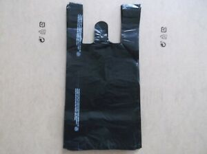 1100 Ct plastic Shopping Bags t Shirt Type Grocery black Small Size Bags