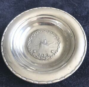 Vintage 830 Coin Silver Dish From Scandinavia