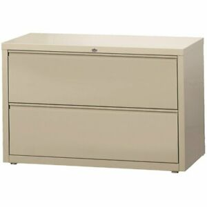 Hirsh Hl8000 Series 42 2 Drawer Lateral File Cabinet In Putty