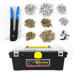 464pcs set M3 m8 Blind Rivet Nut Rivnut Nutsert Insert Riveter Tool Usa Stock