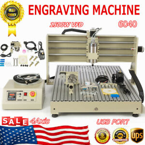 Usb 6090 4 Axis Router Engraver 1500w Vfd Engraving Mill Drilling Machine Us