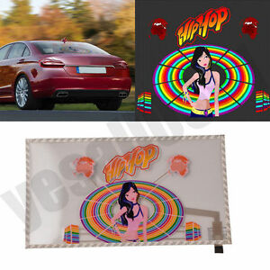 45 25cm Car Sticker Music Rhythm Led Flash Sound Activated Equalizer Light Color