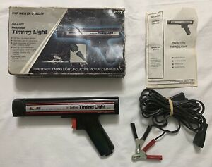 Vintage Craftsman 28 2137 Timing Light Sears Inductive 161 213400 W cables Box