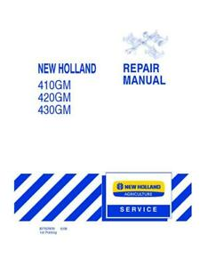 New Holland 410gm 420gm 430gm Flex Wing Finish Mower Service Manual